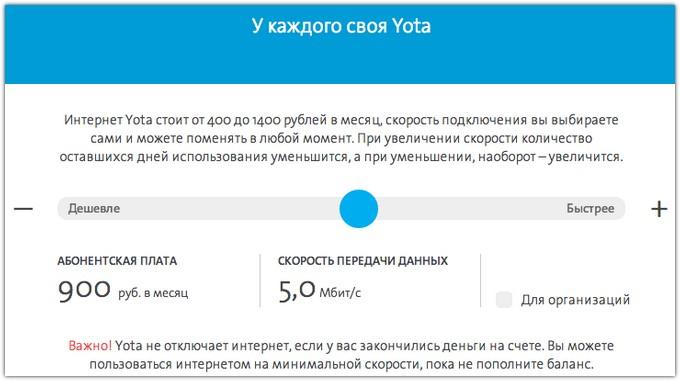 оренбург тарифы йота