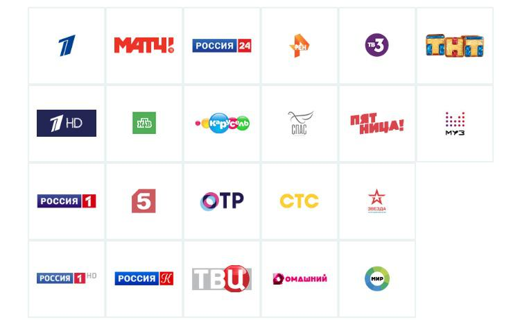 список всероссийских каналов на пакете экстра